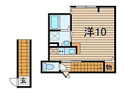 埼玉県川口市大字里の賃貸アパートの間取り