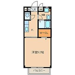 名鉄尾西線 観音寺駅 徒歩22分の賃貸アパート 1階1Kの間取り