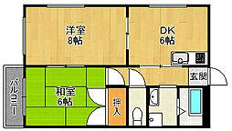 蓬莱マンション[1階]の間取り