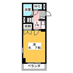 エルム元城[1階]の間取り