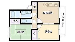 ユニティー桜町[102号室]の間取り