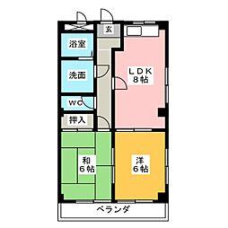 メゾン・ド・フォーレ神山A棟[3階]の間取り