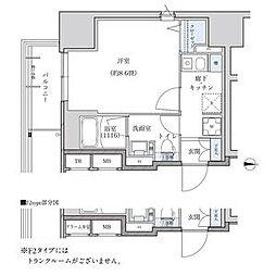 パークアクシス新栄 5階ワンルームの間取り
