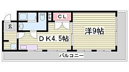 クイーンマンション[105号室]の間取り