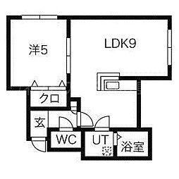 NOA美園[3階]の間取り