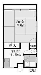 豊荘[1階]の間取り