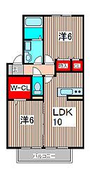 埼玉県さいたま市緑区大字大間木の賃貸アパートの間取り