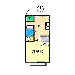 白竜マンション[5階]の間取り