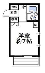 神奈川県横浜市金沢区谷津町の賃貸アパートの間取り