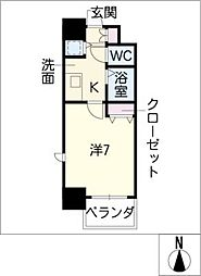 プレサンス新栄デコール301号室[3階]の間取り