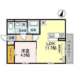 ディープログレス[1階]の間取り