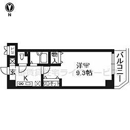プラネシア星の子京都駅前[201号室]の間取り