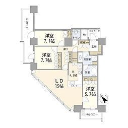 ビーコンタワーレジデンス[29階]の間取り