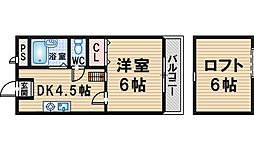 GARDEN TREE岡町[402号室]の間取り