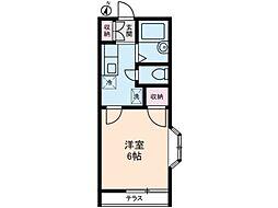 アリス生田[1階]の間取り