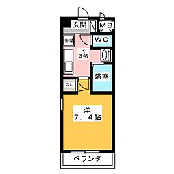 メゾンアンクレ[6階]の間取り
