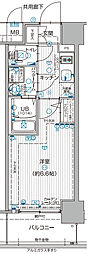 JR大阪環状線 福島駅 徒歩7分の賃貸マンション 8階1Kの間取り