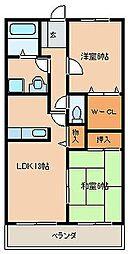 ステラコ−ト弐番館[201号室]の間取り