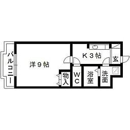 静岡県浜松市中区和合北1丁目の賃貸マンションの間取り