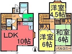 [テラスハウス] 東京都江戸川区松島1丁目 の賃貸【東京都 / 江戸川区】の間取り