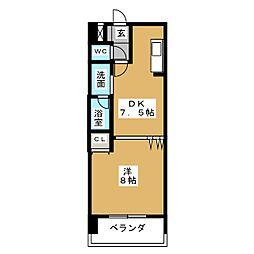 サンモール菊井[5階]の間取り