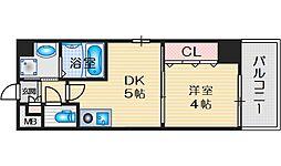 プレステージ5京口 3階1DKの間取り