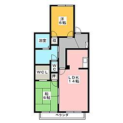ドエルMASA[1階]の間取り