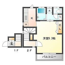 アミティエwako[2階]の間取り