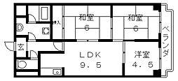 コンフォールセゾン[3階]の間取り