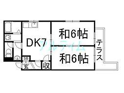 ドミールシャルマン[2階]の間取り
