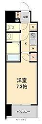 HF仙台本町レジデンス 5階1Kの間取り