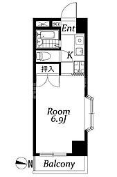 東京都江戸川区中葛西3丁目の賃貸マンションの間取り