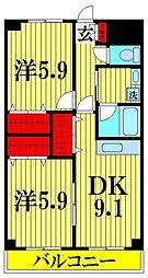埼玉県川口市戸塚2丁目の賃貸マンションの間取り