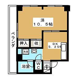桃李園ビル[4階]の間取り