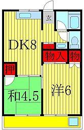 若藤マンション[3階]の間取り