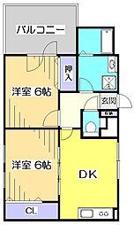 アパートメントハウス・ダニエリ[5階]の間取り