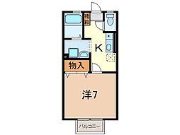 静岡県沼津市松沢町の賃貸アパートの間取り