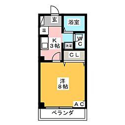 ウィズステージ柳ヶ坪[2階]の間取り