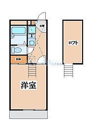 大阪府東大阪市玉串元町2の賃貸アパートの間取り