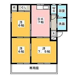 京の館[1階]の間取り