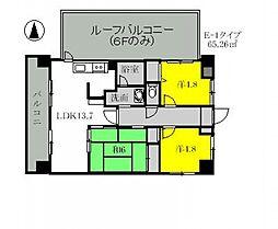 JR高崎線 北本駅 徒歩5分の賃貸マンション 1階3LDKの間取り