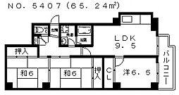 レジデンストーア[405号室号室]の間取り