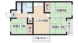 愛知県名古屋市昭和区広路町字松風園の賃貸マンションの間取り