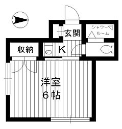 東京都練馬区羽沢1丁目の賃貸アパートの間取り