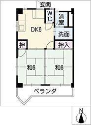 タナハシコーポ[2階]の間取り