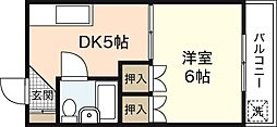 グレース中田[4階]の間取り