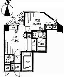 アクティヴュー新宿[1104号室号室]の間取り
