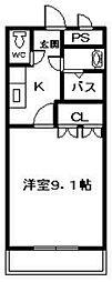 シャルムスクエア[2階]の間取り