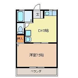 愛日ハイツ中島田[A201号室]の間取り