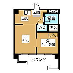 コンドミニアム姫池[4階]の間取り